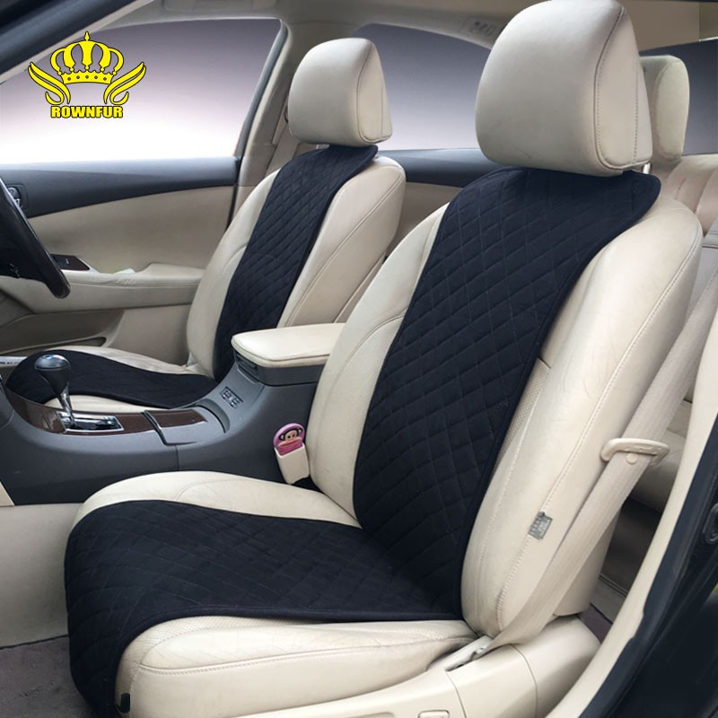 Rownfur Brand Classics Car Seat Covers Universal Car Full Set Suede Car Seat Cushion Cover Shopee Indonesia