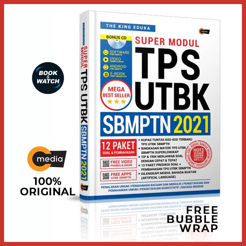 Ready Stock The King Eduka Super Modul Tps Utbk Sbmptn 2021 Original C Media Shopee Indonesia