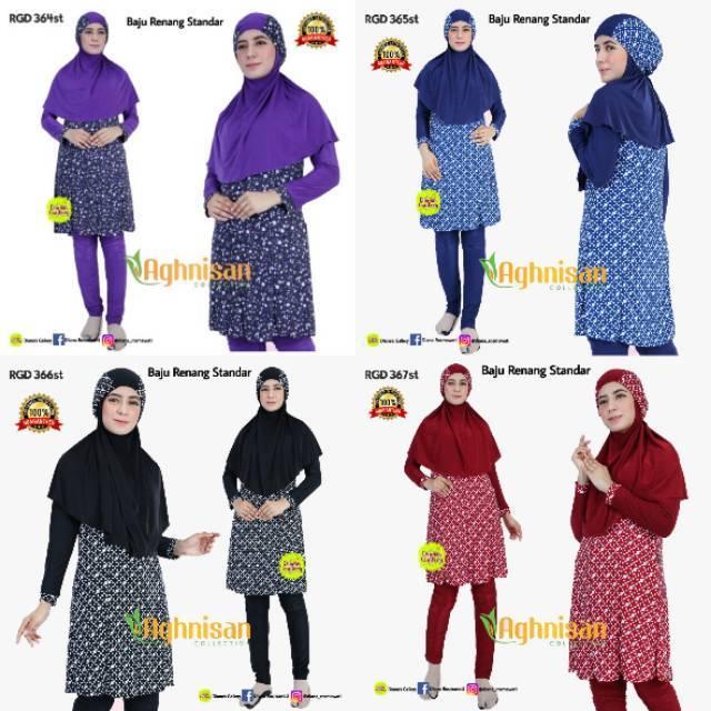 Fashionable Swimsuit Baju Renang Muslimah Syari Aghnisan | Shopee Indonesia