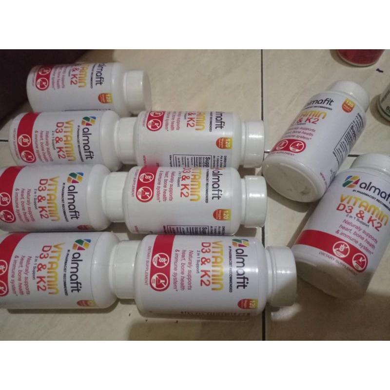 Almafit Vitamin D3 5000 Iu + K2 90 Mcg Jantung Tulang Imunitas Asli