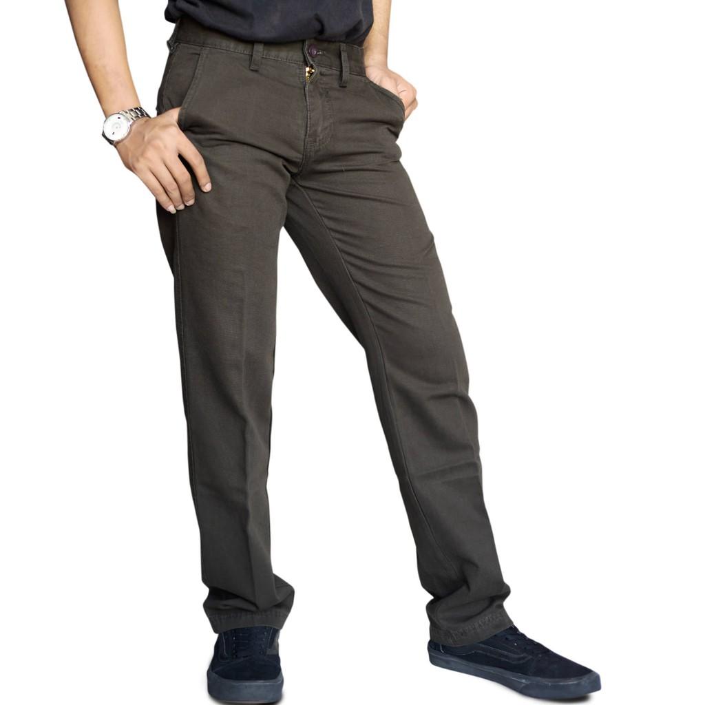 Emba Jeans Celana Panjang Pria Rodensi One 613 10138 20 Heavy Stone Classic Befarco Warna Storm Abu 31 Lgs Formal Cct500027003 Olive Shopee Indonesia