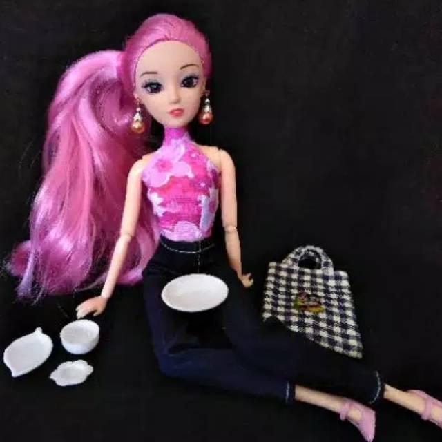 Miniatur Piring Miniatur Gelas Untuk Boneka Barbie Mainan Masak Masakan Diorama Piring Plastik Shopee Indonesia