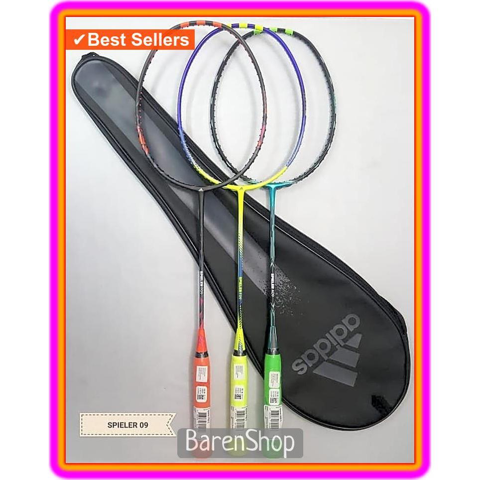 Raket Badminton Adidas Spieler P09 Core Black Orange 100%Original   Shopee Indonesia