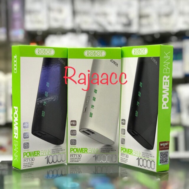 Powerbank Robot RT7200 6600mAh 2 USB Ports Power Bank White | Shopee Indonesia