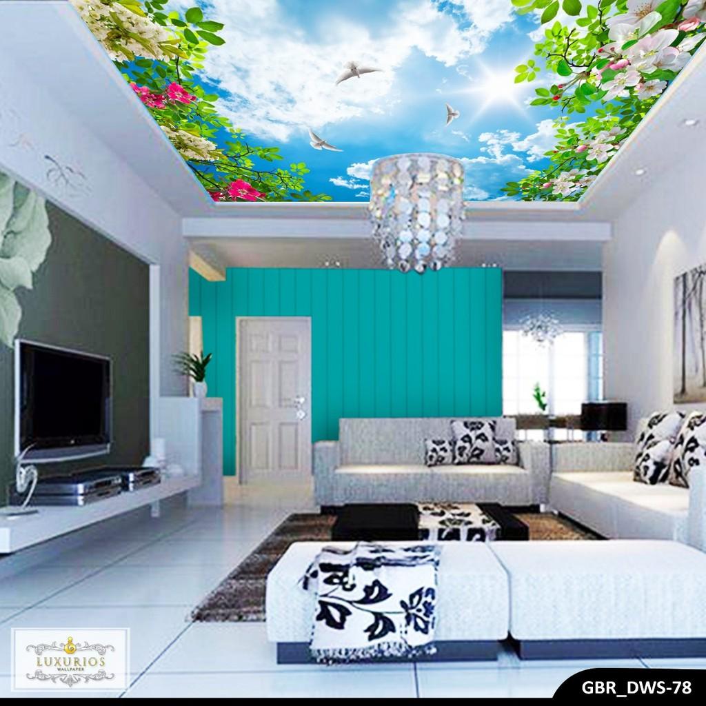 Wallpaper custom 3d wallpaper lantai ikan koi hitam shopee indonesia