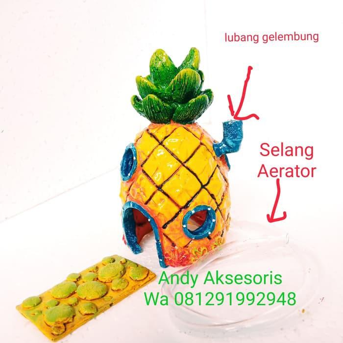 Hiasan Aquarium Rumah Nanas Spongebob Bee266ex Shopee Indonesia