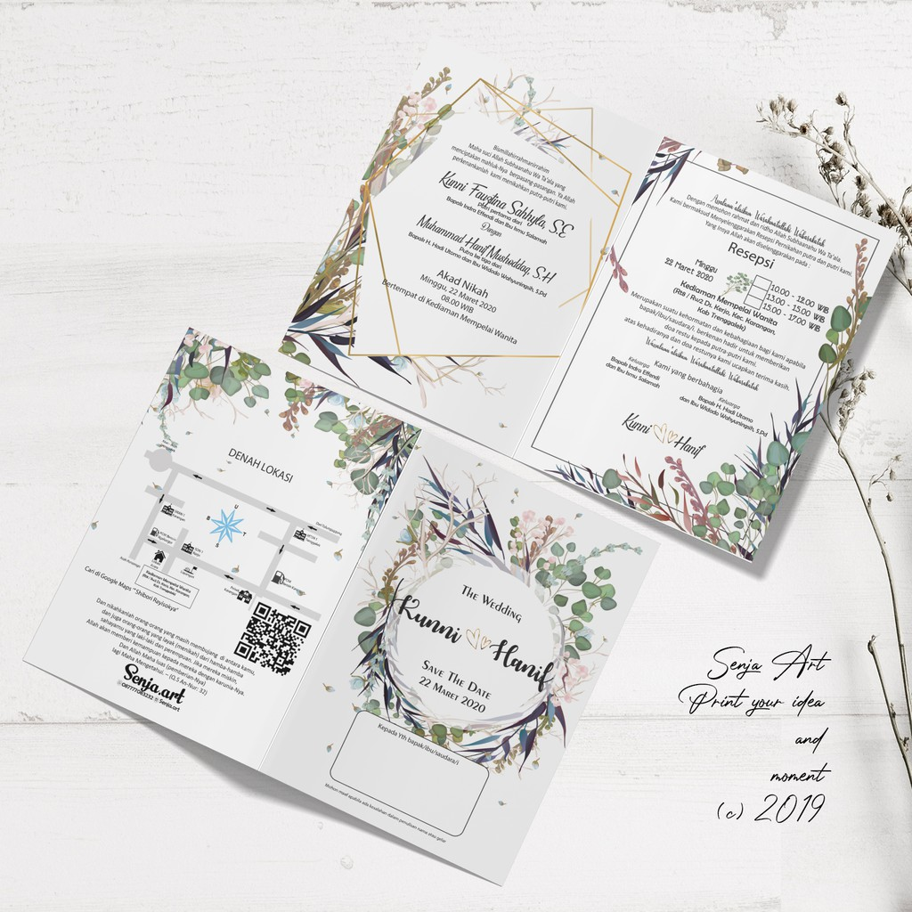 Undangan Pernikahan Rustic Desain Unik FREE Tali Rami dan ...