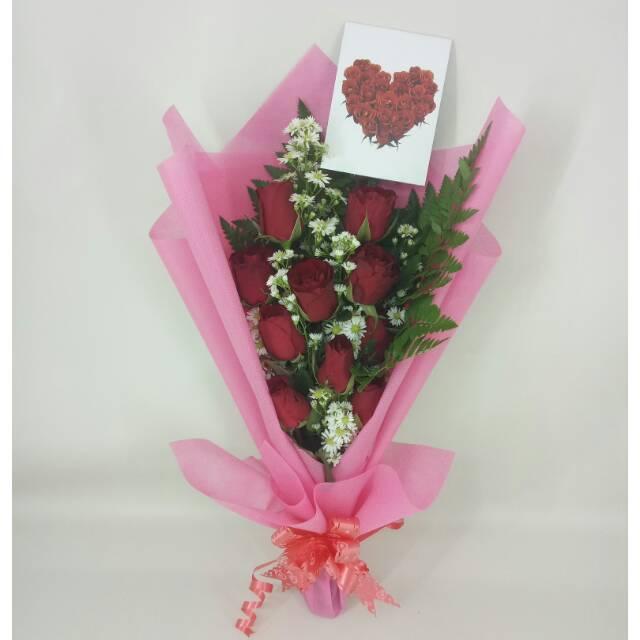 Hand Bouquet Bunga Mawar Merah Asli Bucket Wisuda Buket Bunga Hadiah Ulang Tahun Fresh Flower Shopee Indonesia