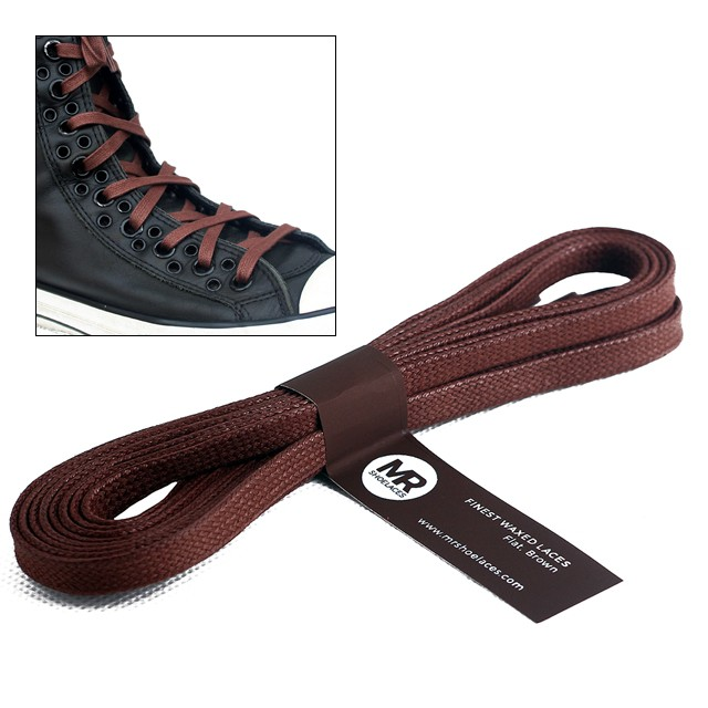 Tali Sepatu Lilin 6-7mm - Golden Brown 90-150cm (Flat Waxed Shoelaces) | Shopee Indonesia