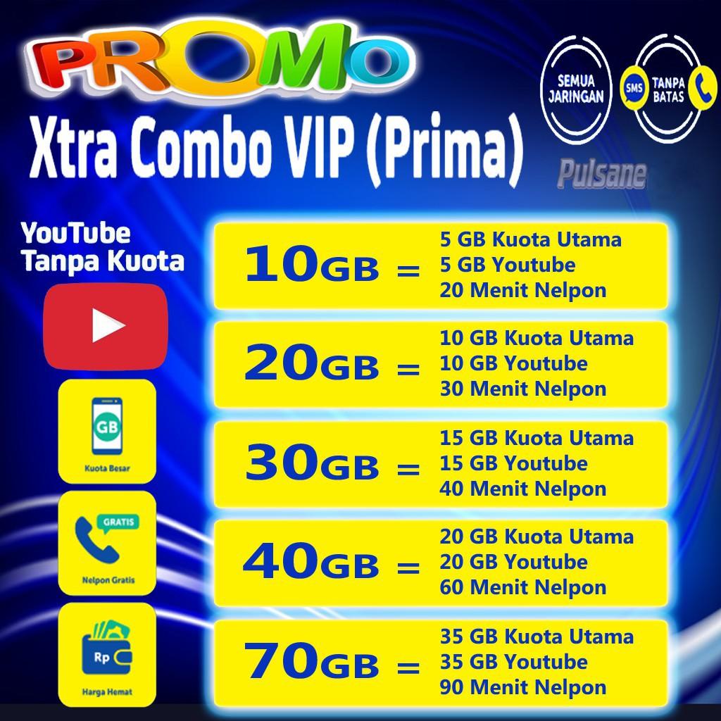 Kuota XL Xtra Combo 10GB, 20GB, 30GB, 40GB, 70GB