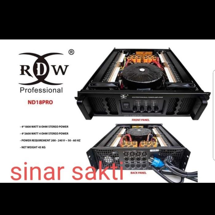 s-29 POWER AMPLIFIER RDW ND18PRO/ND18 PRO/ND 18PRO 4CH 1800 WATT