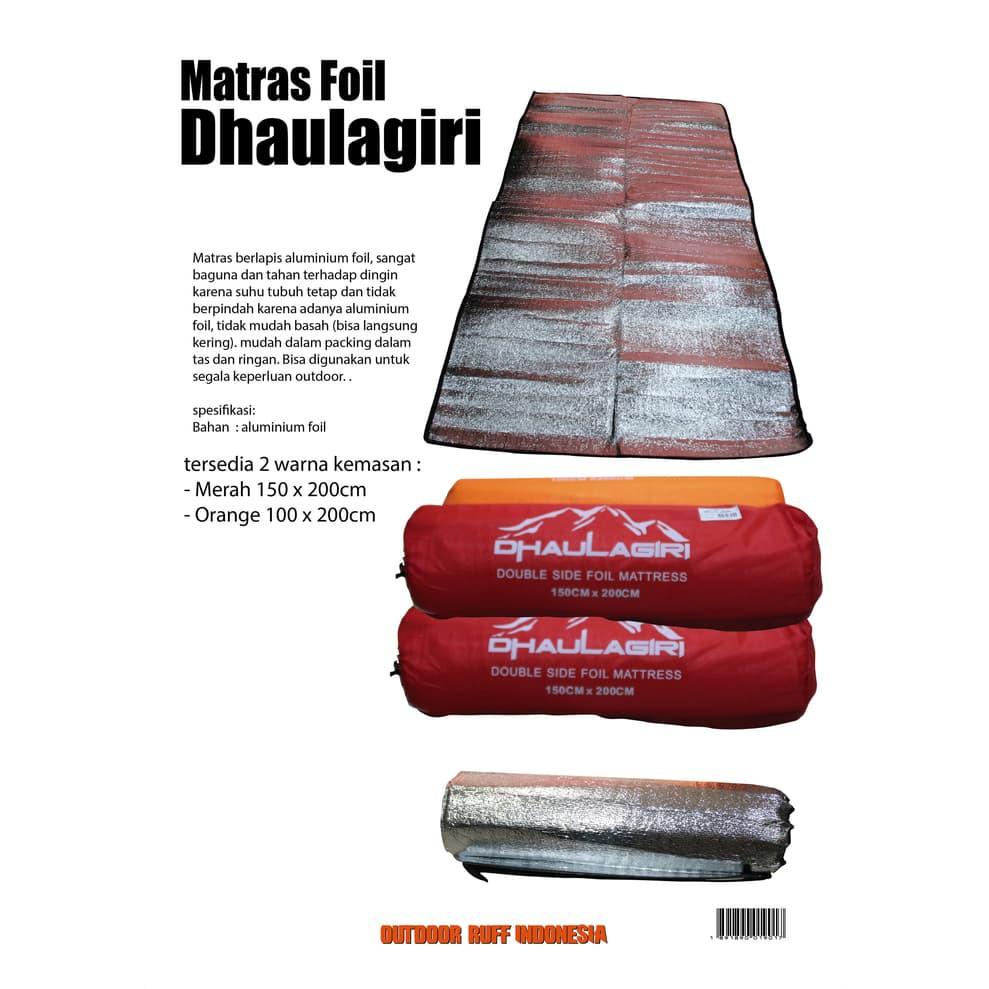 Matras Alumunium Foil Outdoor Gunung Kemping TNF bukan consina murah Populer | Shopee Indonesia