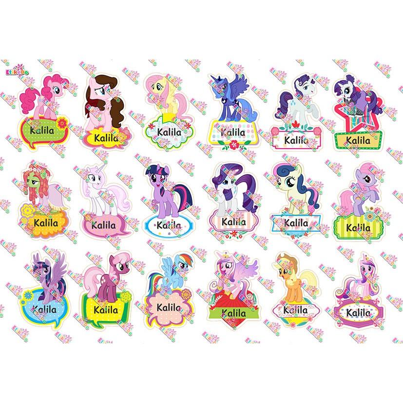 Label Nama Little Pony 72 Stiker Anti Air Robek Luntur 1 Nama Lp2m1 Shopee Indonesia