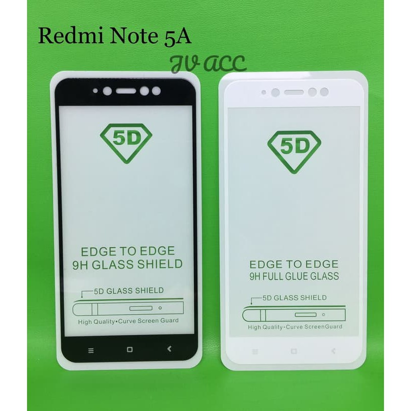 Film Pelindung Layar Tempered Glass Full Cover 6D untuk Xiaomi Redmi Note 5 Pro / 5S / 5A | Shopee Indonesia