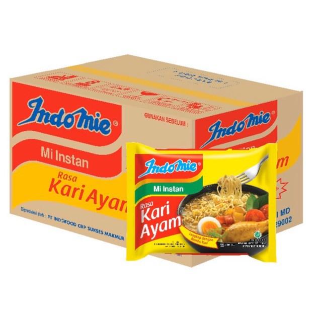 Indomie Kari Ayam / Mie Instan Kari Ayam / Indomie Kuah Rasa Kari Ayam/ Indomie Kari Ayam 1 Dus
