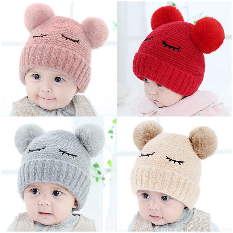 cf34b8b606b ✤Baby Hat autumn Winter 3-6-12 month female thickened 0-1-year-old warm boy  wool