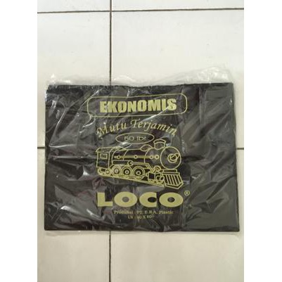 Kantong Plastik Loco Hitam Ekonomis Uk. 40 (Isi 50 Lembar) | Shopee Indonesia
