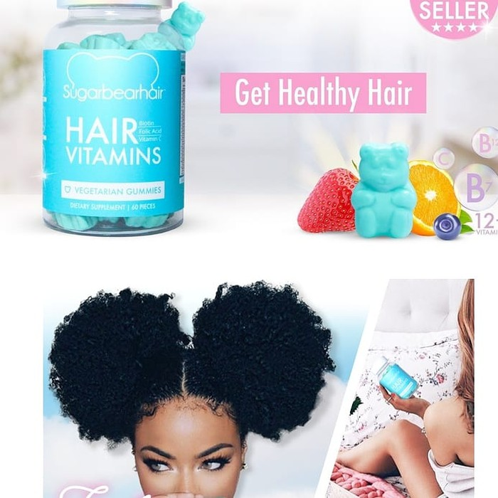 100% Original Usa Sugarbearhair Sugar Bear Hair Sugarbear Hair | Shopee Indonesia