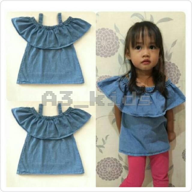 Grosir Sabrina anak murah / sabrina denim anak terlaris / bestseller / grosir baju anak termurah | Shopee Indonesia