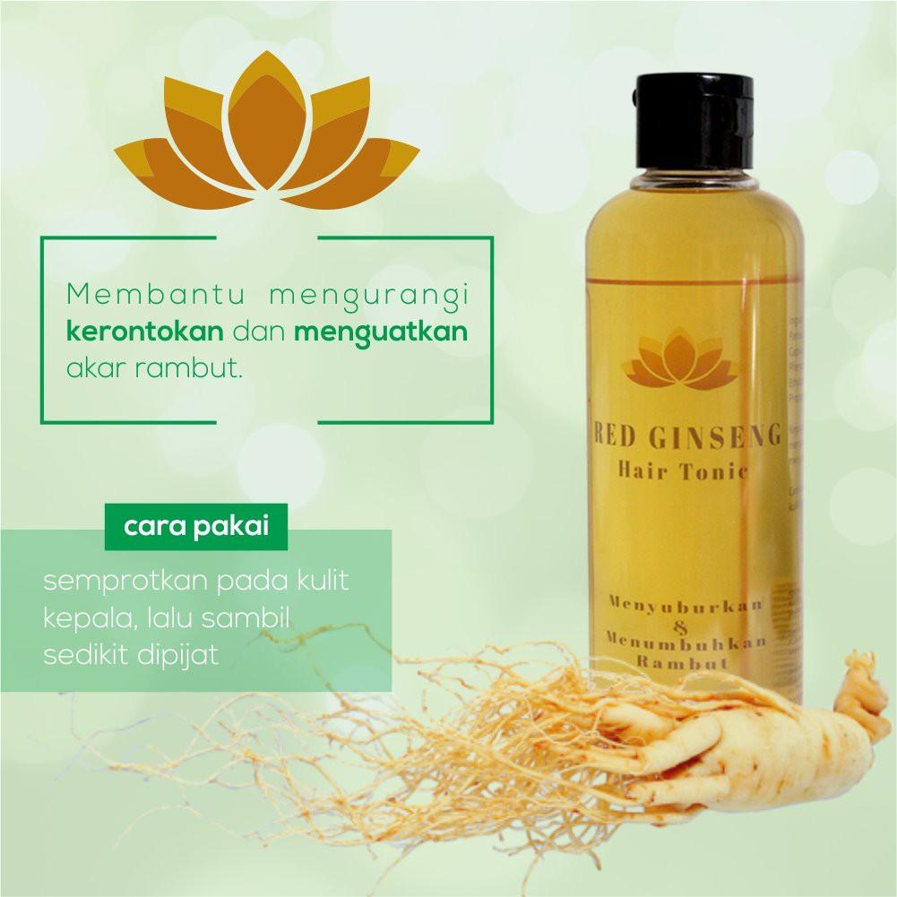 Obat Ginseng Korea Penumbuh Rambut Cepat Aman Dan Ampuh Red Ginseng Hair Tonic Shopee Indonesia