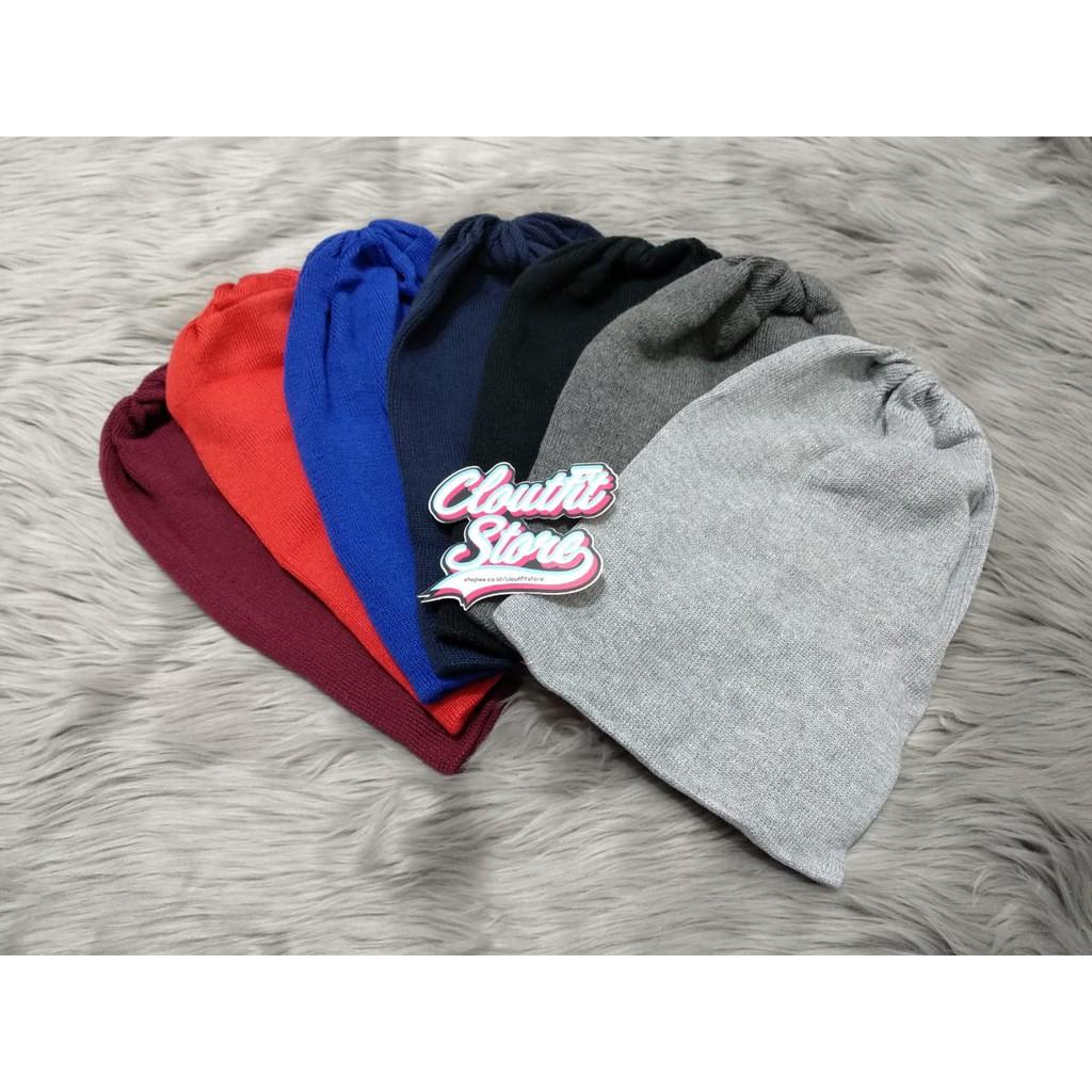 Beanie Hat Spandex   Topi Kupluk Anak Dewasa Kids Polos  1e7d2d8ea8
