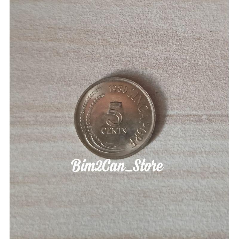 Koin 5 cent Singapura / Singapore