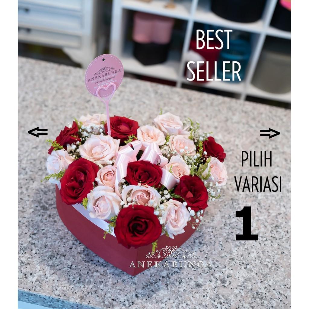 Beli Bunga Box Flowers Souvenir Pesta Februari 2021 Shopee Indonesia