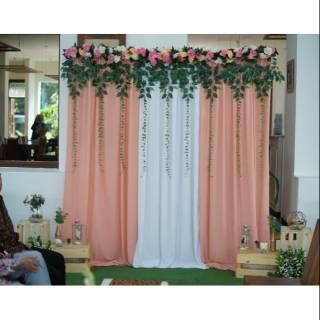 dekor lamaran dekorasi akad backdrop photobooth (model 2
