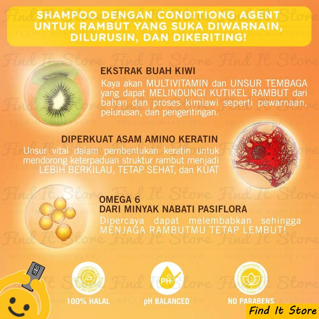 Makarizo Hair Energy Fibertherapy Conditioning Shampoo 10ml 10 ml Sampo Pembersih Rambut 2in1-1