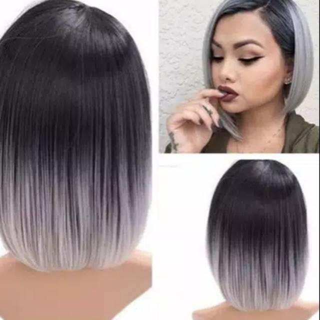 Rambut Pendek Grey