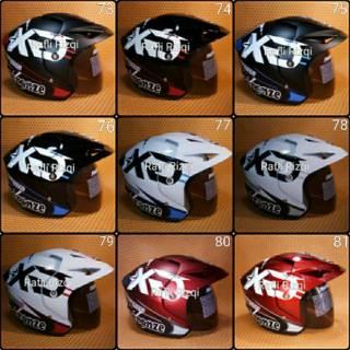 Promo Akhir tahun Helm Motor SNI Dewasa Premium Murah All Size Half Face Takira A