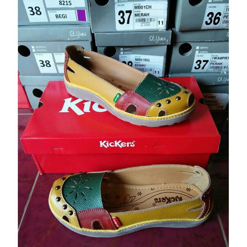 Flat Shoes Wanita Kickers Combine ...