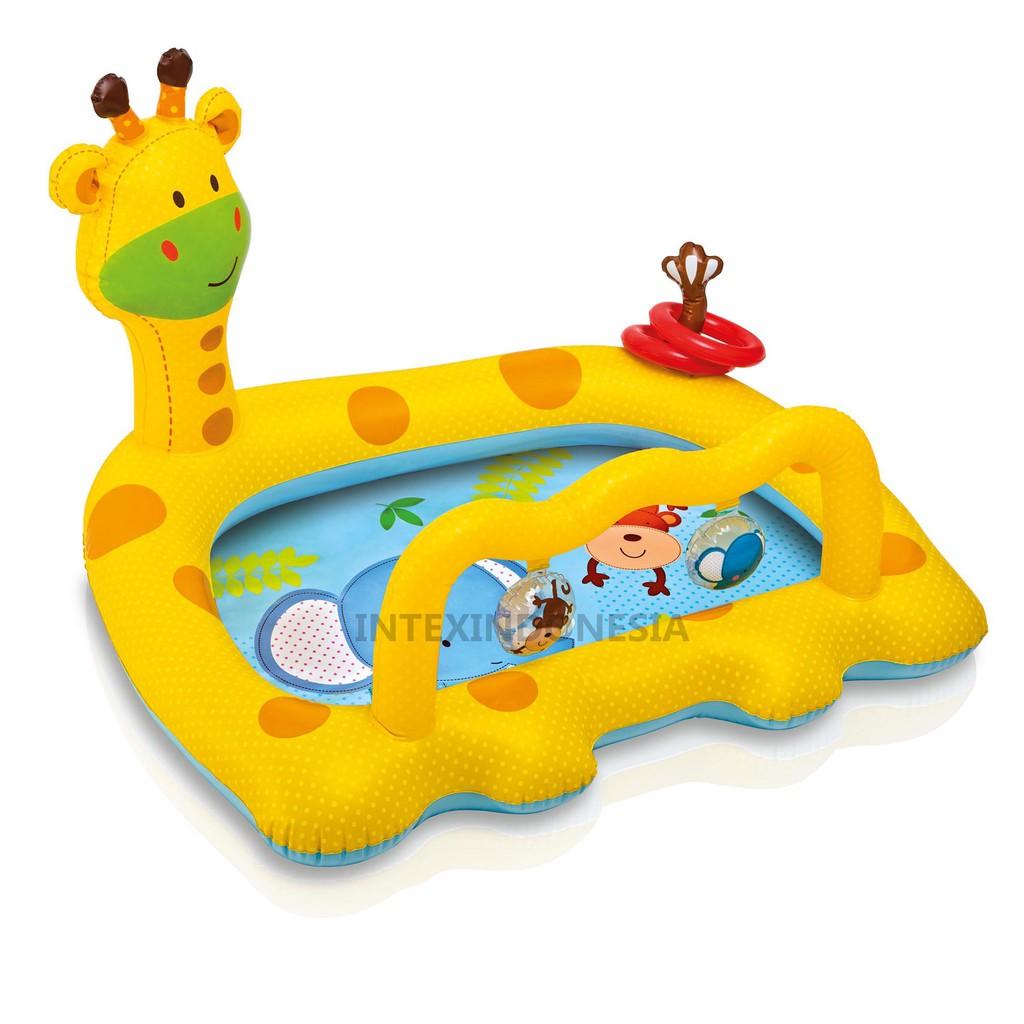 Intex Kolam Renang Smiley Giraffe Baby Pool 57105 Swim Center See Through Round 57489 Blue