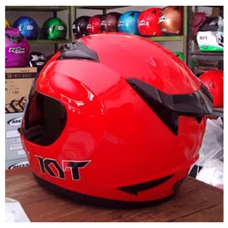 Helm Full Face KYT R10 Solid Red Fire Merah Cabe Red Doff ...