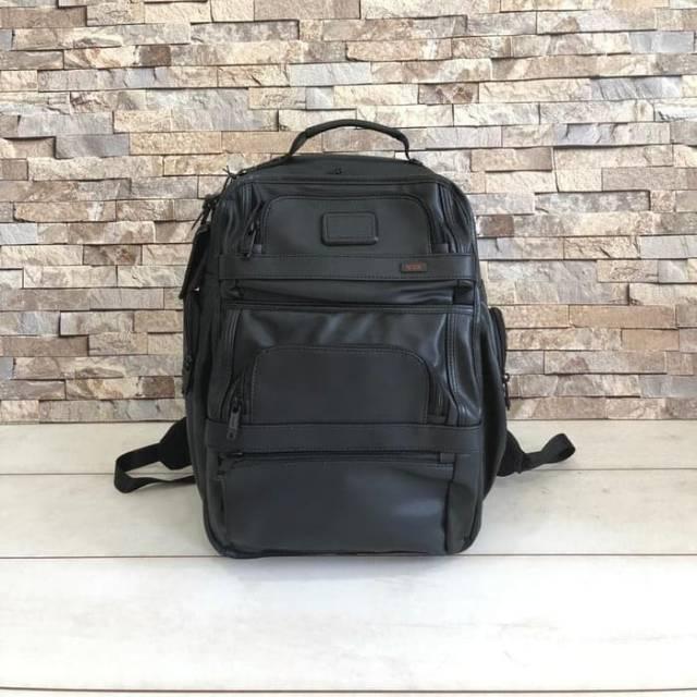 Tas Ransel Kulit Tumi T-pass Business Backpack laptop Leather