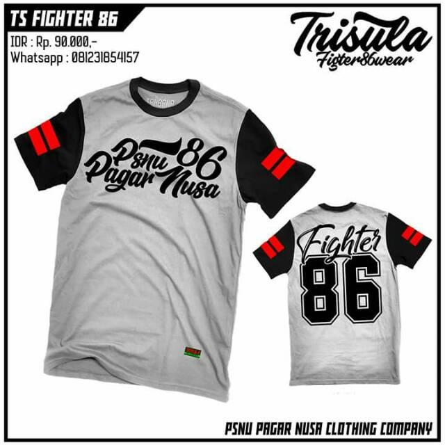 Kaos Custom Pagar Nusa Fighter Tshirt Pencak Silat Shopee Indonesia