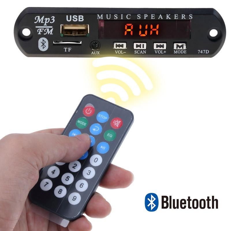 Papan Modul Decoder Audio MP3 WMA Wireless Bluetooth DC 5V USB FM TF Radio  untuk Mobil
