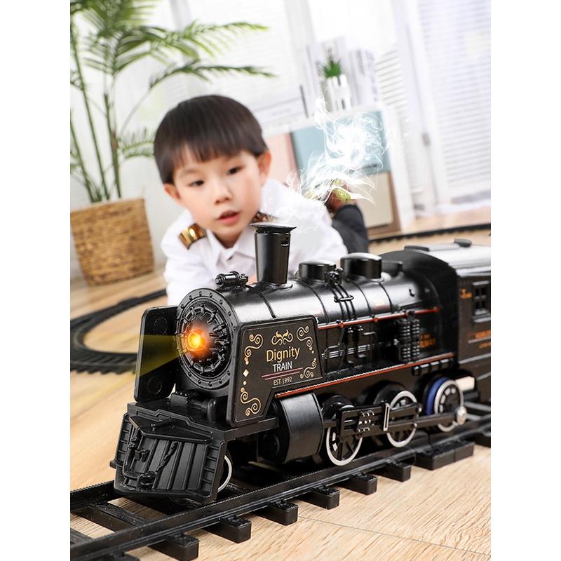 Set Mainan Simulasi Model Jalur Parkir Kereta Api Listrik Gaya Retro Untuk Anak Laki Laki Shopee Indonesia