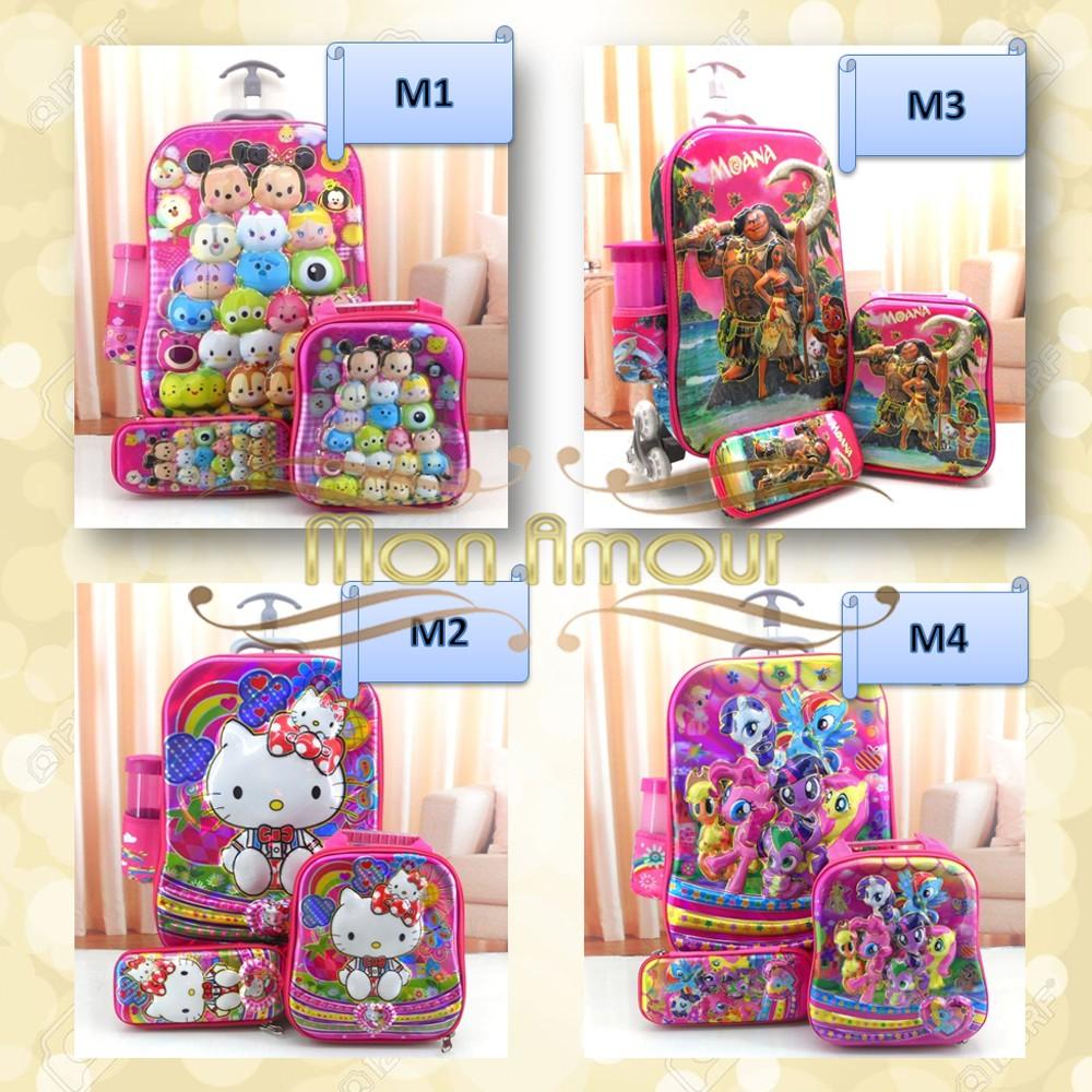 Tas Sekolah Anak Tk Sd Troli Trolley 6 Dimensi Spiderman 6d 4 In 1 0280 0444 Shopee Indonesia