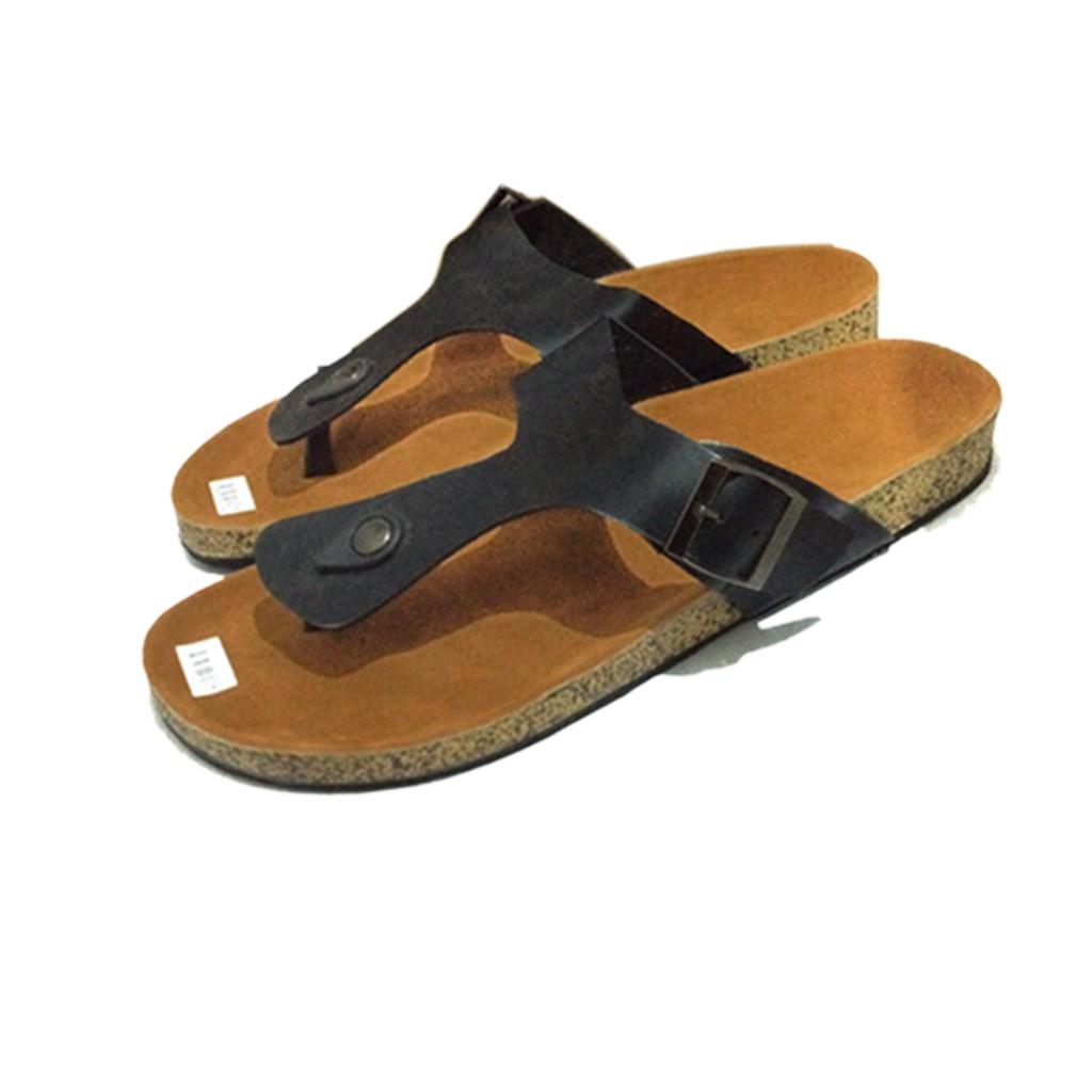Terbaru Sandal Sendal Pria Flat Jepit Santai Casual Kantor Indoor Outdoor  Lois Kulit Asli Trend Murah b568eebef5