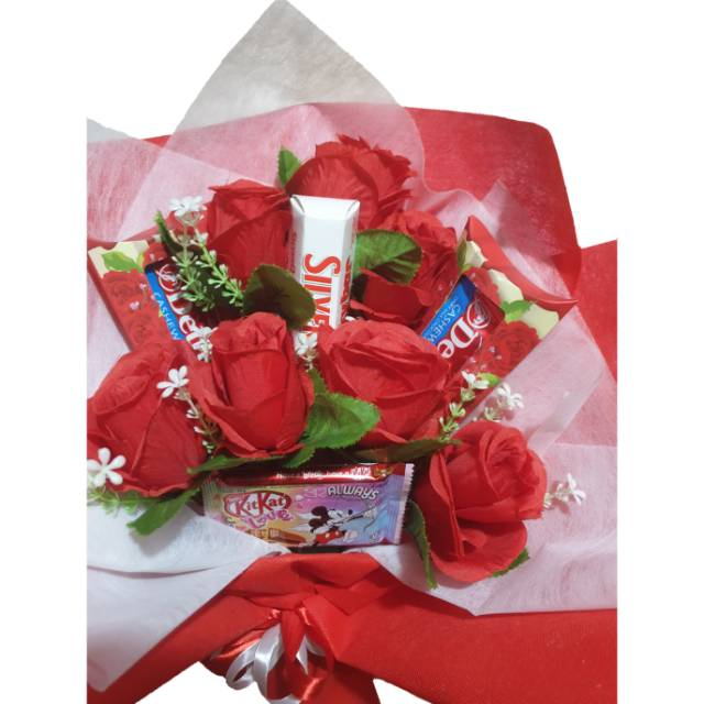 Bouquet Coklat Bouquet Bunga Hadiah Valentine Wisuda Anniversary Shopee Indonesia
