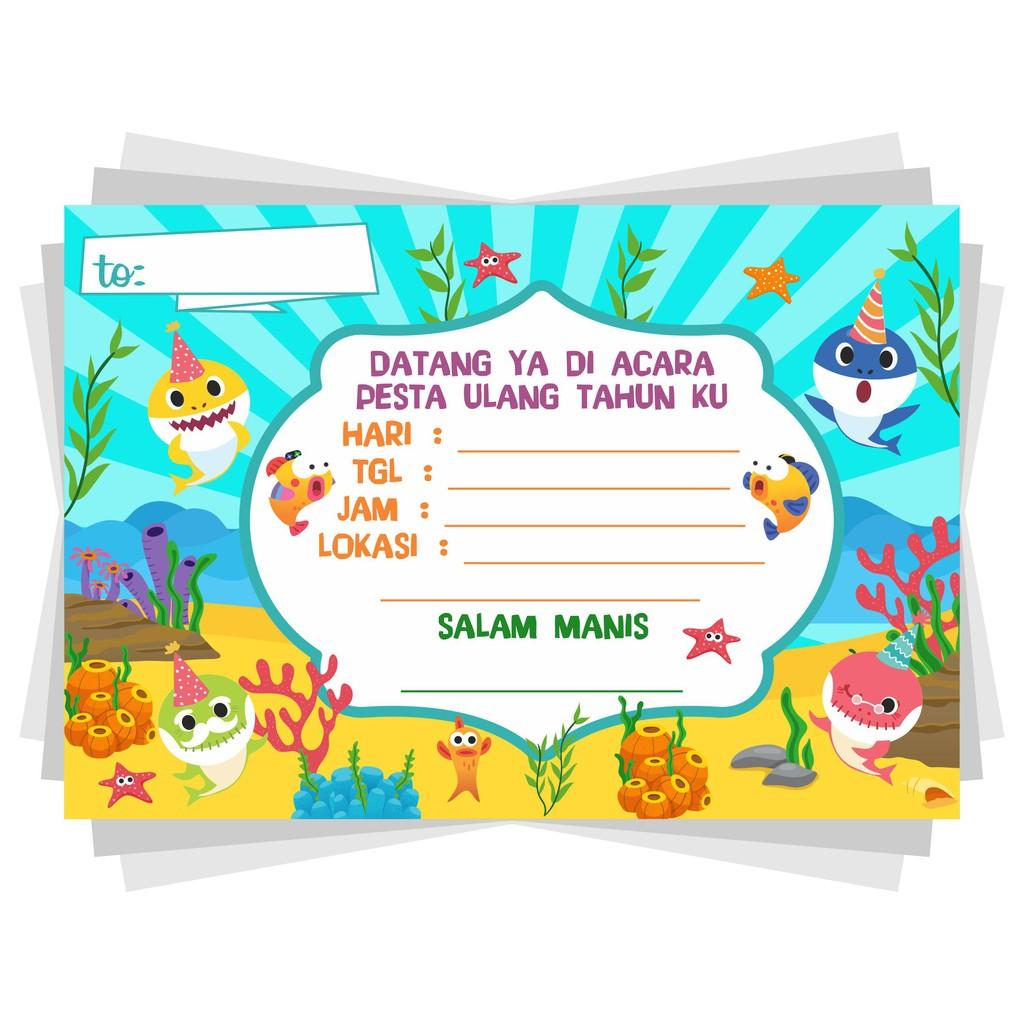 Undangan Ulang Tahun Undangan Ultah Kartu Undangan Anak Kartu