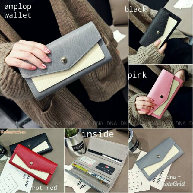 Dompet wanita TEMPAT HP + BANYAK KARTU dompet cewek terbaru kado valentine | Shopee Indonesia