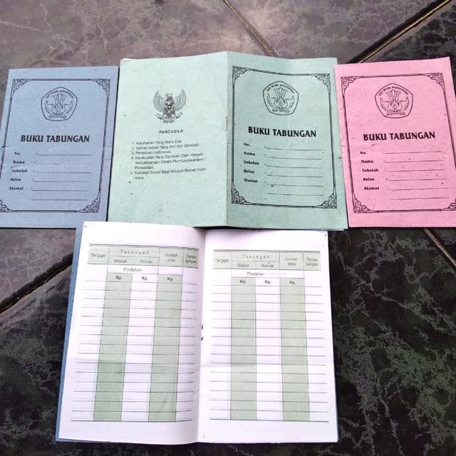 Buku Tabungan Sekolah Koperasi Isi 100 Pcs Shopee Indonesia