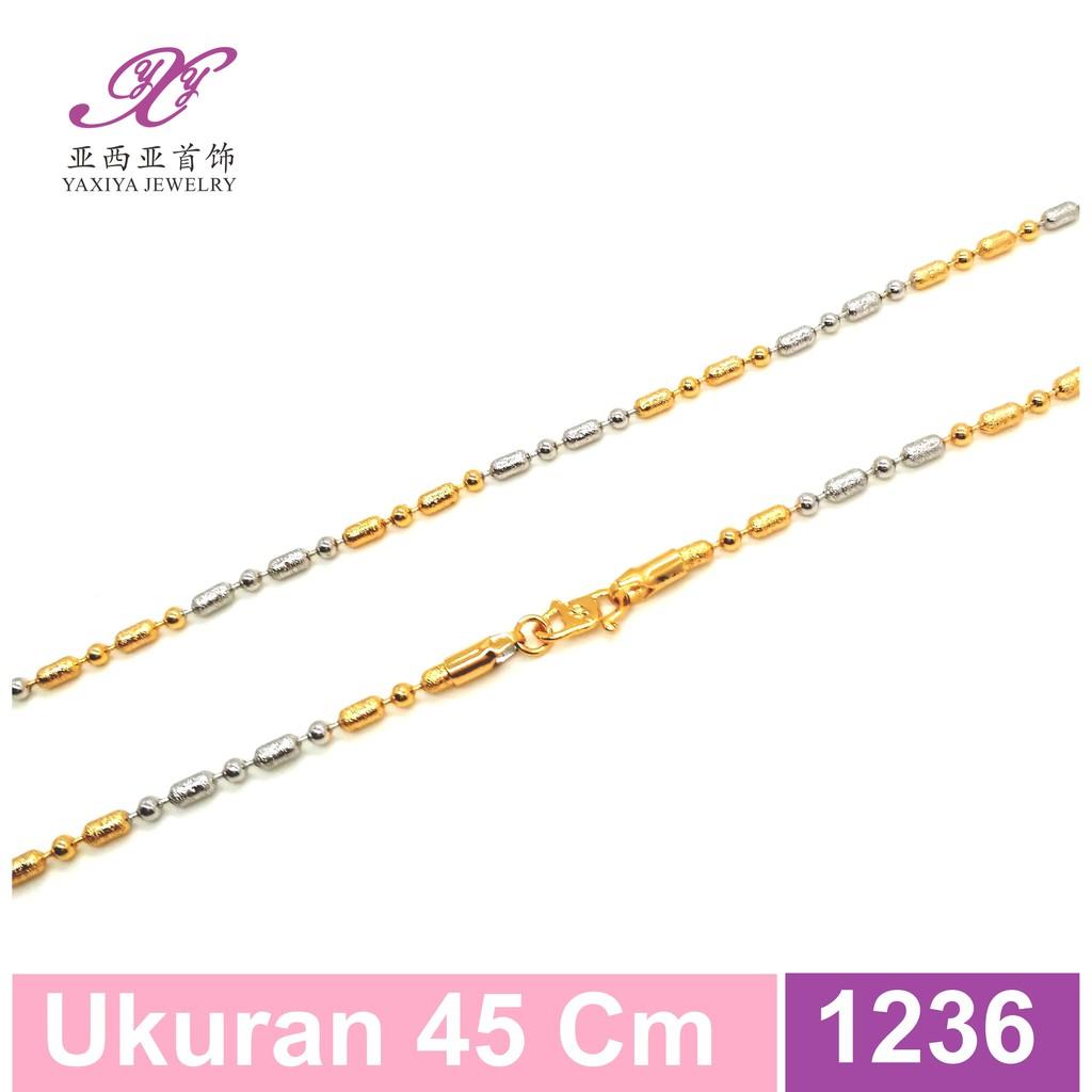 Kalung lapis emas Rantai pecah kopi oval Perhiasn imitasi Yaxiya 428   Shopee Indonesia