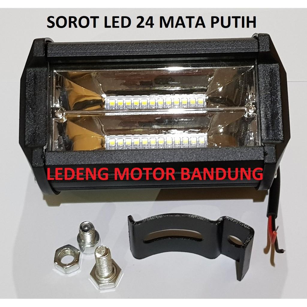 Cwl 2 Mata Kotak Kecil Lampu Tembak Sorot Led Cree Worklight Mini Warna Putih Dan Kuning 24 Susun Motor Mobil Shopee Indonesia