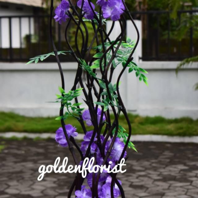 Bambu Ulir Cendani Bunga Anyelir Ungu Tua Gradasi Min Pembelian 10 Btg Shopee Indonesia