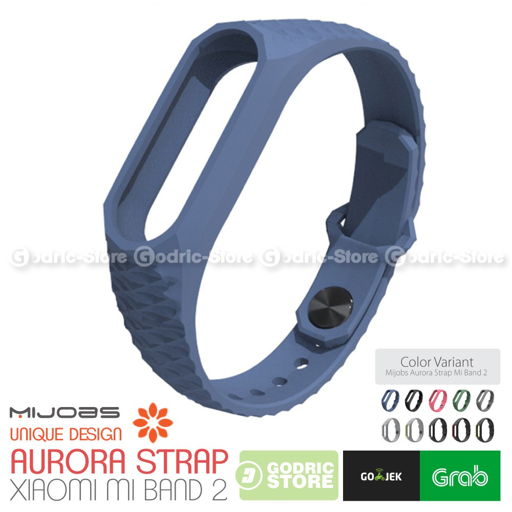 Strap Gelang TPU Replacement Xiaomi Mi Band 2 LCD Oled Blue | Shopee Indonesia