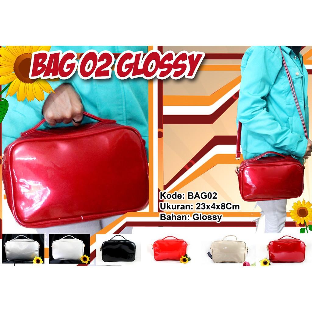 SLING BAG GLOSSY / TAS SELEMPANG CEWEK BAHAN GLOSY