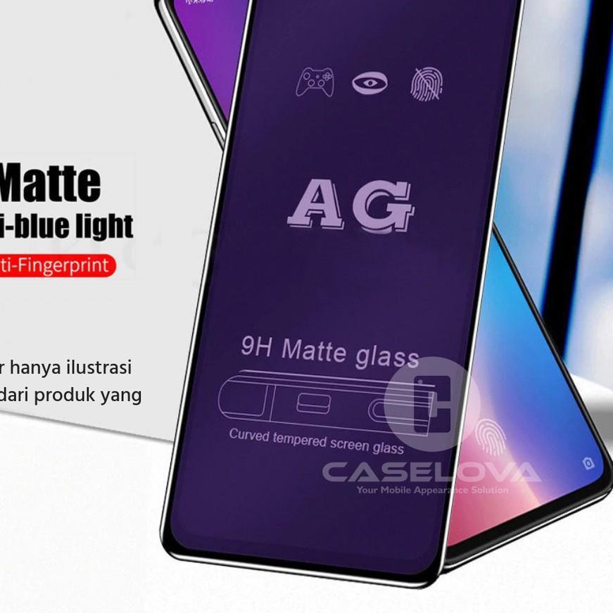 KOUYU Screen Protectors 25 PCS AG Matte Anti Blue Light Full Cover Tempered Glass for Oppo Realme C2 Tempered Film